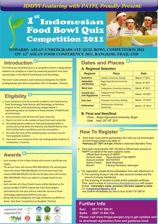 1st Indonesian Food Bowl Quiz Competition 2011